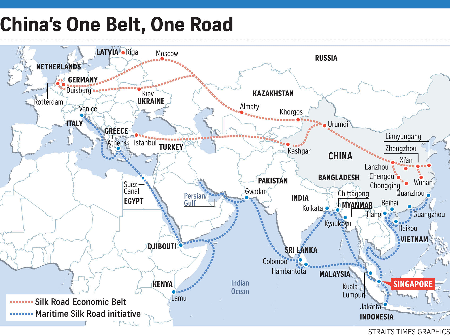 Modern Day China Map.China Makes Tracks On Modern Silk Road Asia News Top Stories