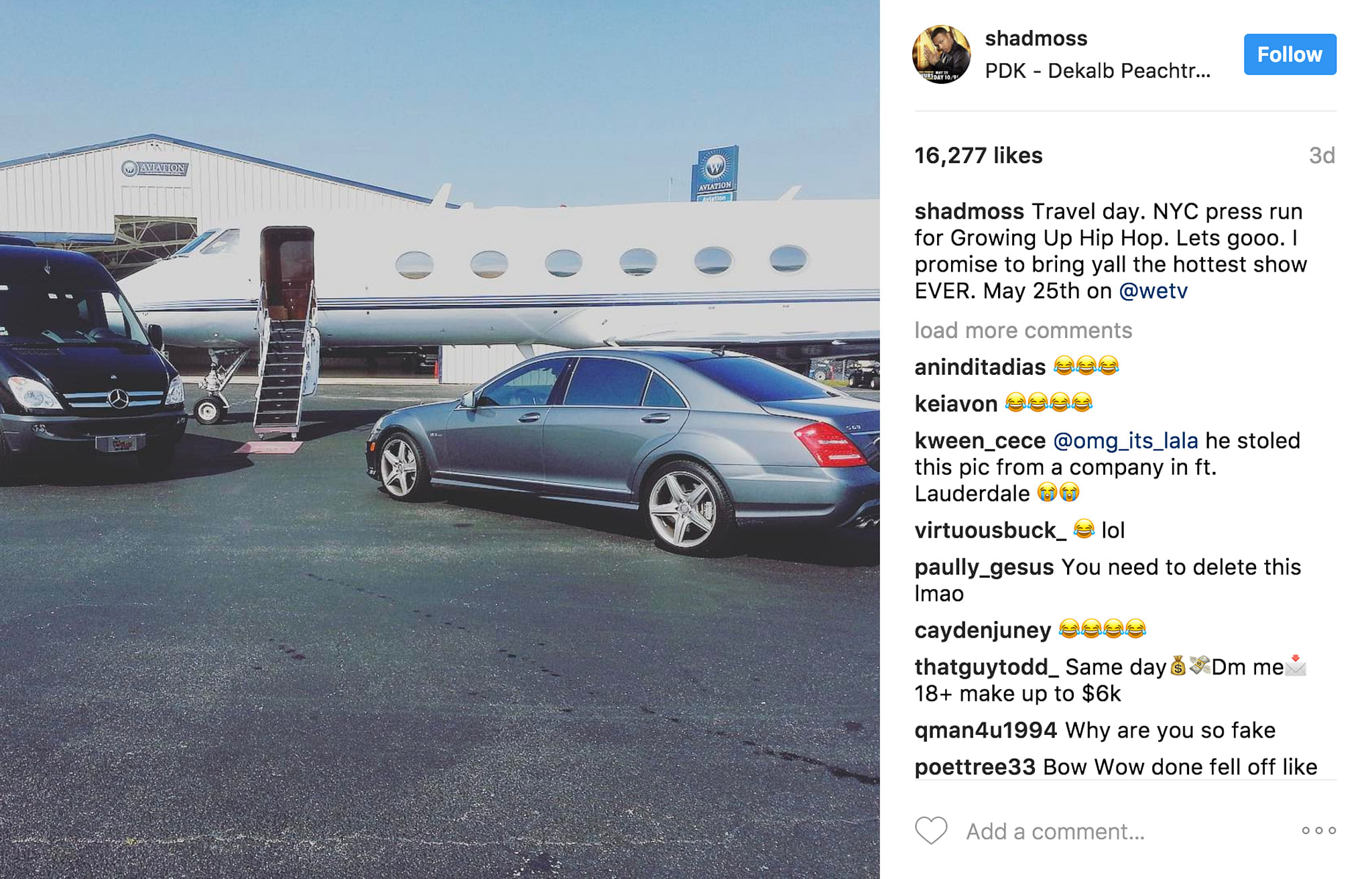 Twitter Detectives Caught Bow Wow Lying About Having A Private Jet