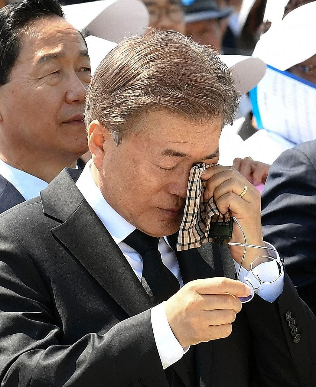 An emotional President Moon Jae In at a ceremony to mark the anniversary of the crackdown in Gwangju, which left more than 165 people dead and over 70 missing and cemented then General Chun Doo Hwan's grip on the country. The annual event was held at