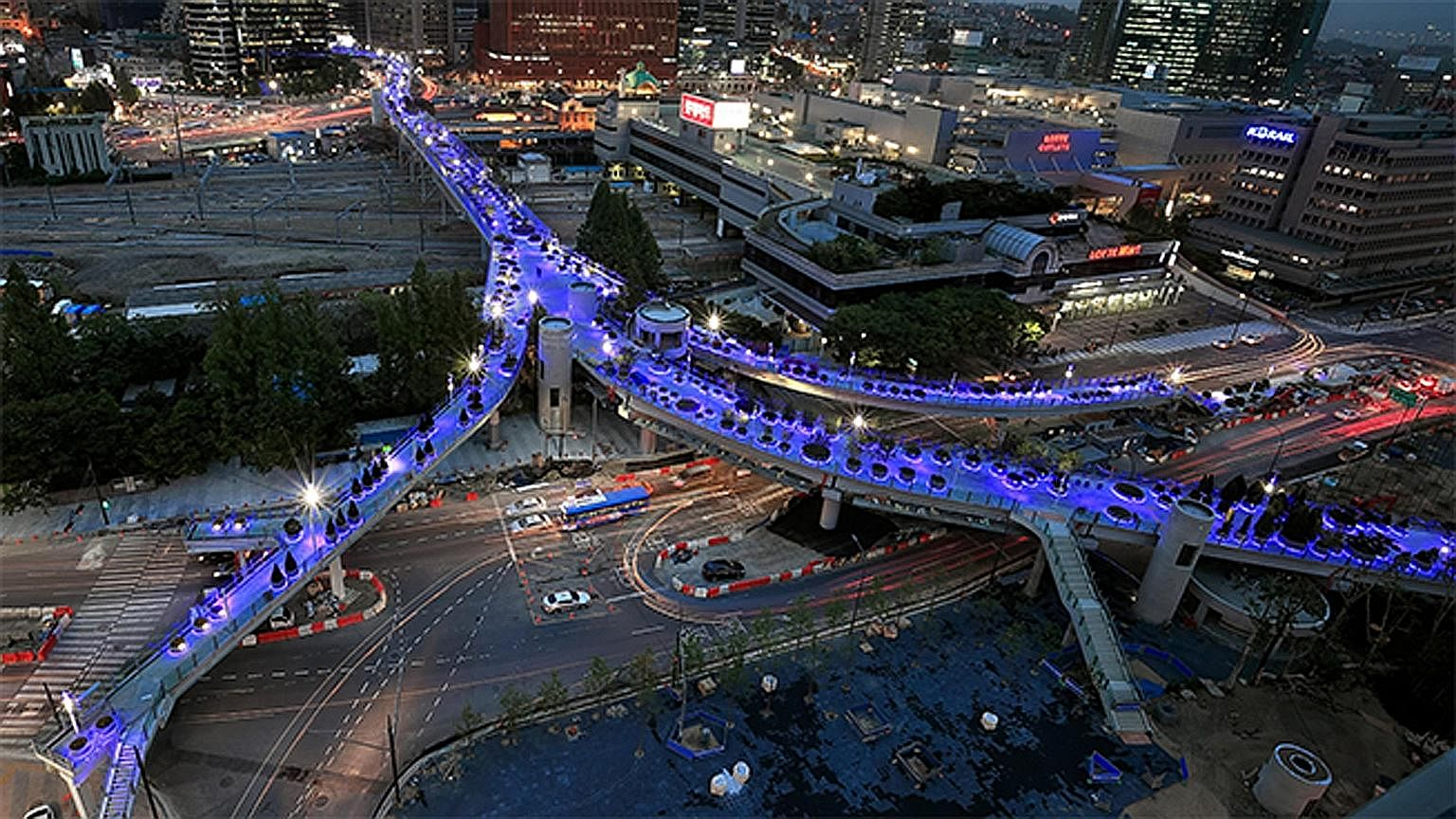 """Seoullo 7017, which opens today, is South Korea's own version of New York's High Line sky park. The brainchild of two-term Seoul mayor Park Won Soon, the sky park is part of his bigger vision to make Seoul """"a great city for walking"""" and extend the gr"""