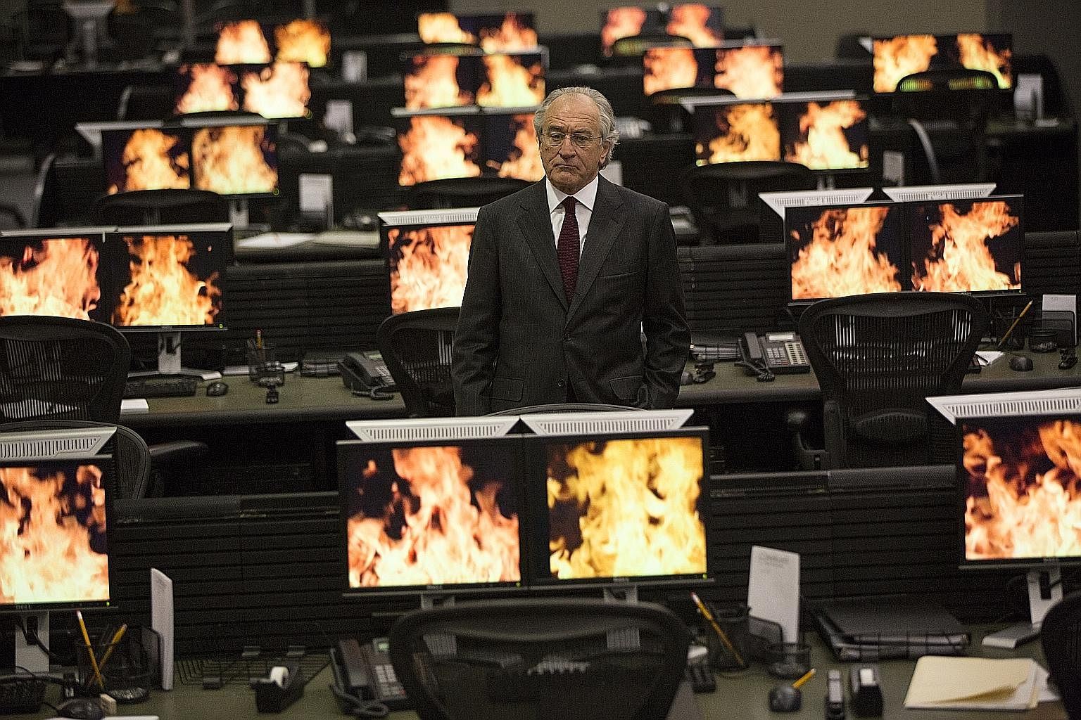 Robert De Niro as Bernie Madoff in The Wizard Of Lies, an HBO movie about the largest Ponzi scheme in American history.