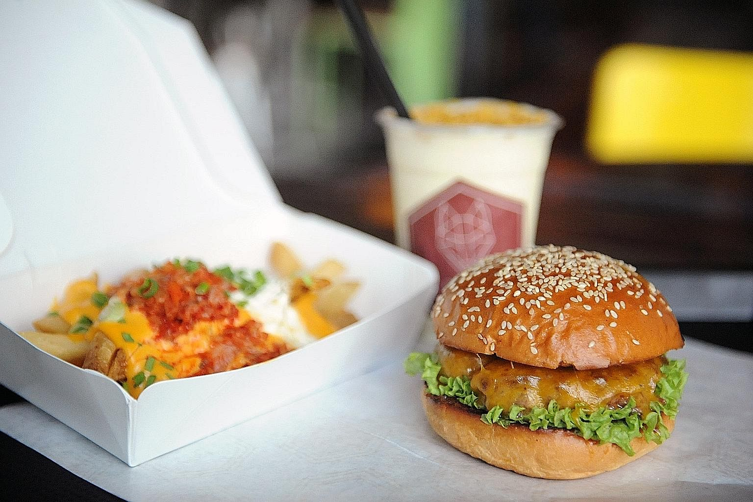 A Wolf burger from the Pasar Bella Suntec City outlet. Mr Ho Song En and Ms Serene Chua (above) made their first foray into the food business with Carvers & Co, together with Ms Sarah Lin and her husband Soh Wen Ming. Early last year, the friends lau