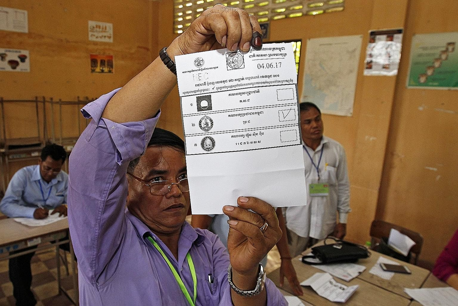 Sunday's commune polls in Cambodia were widely seen as a gauge of public sentiment in the lead-up to the more significant general election next year.