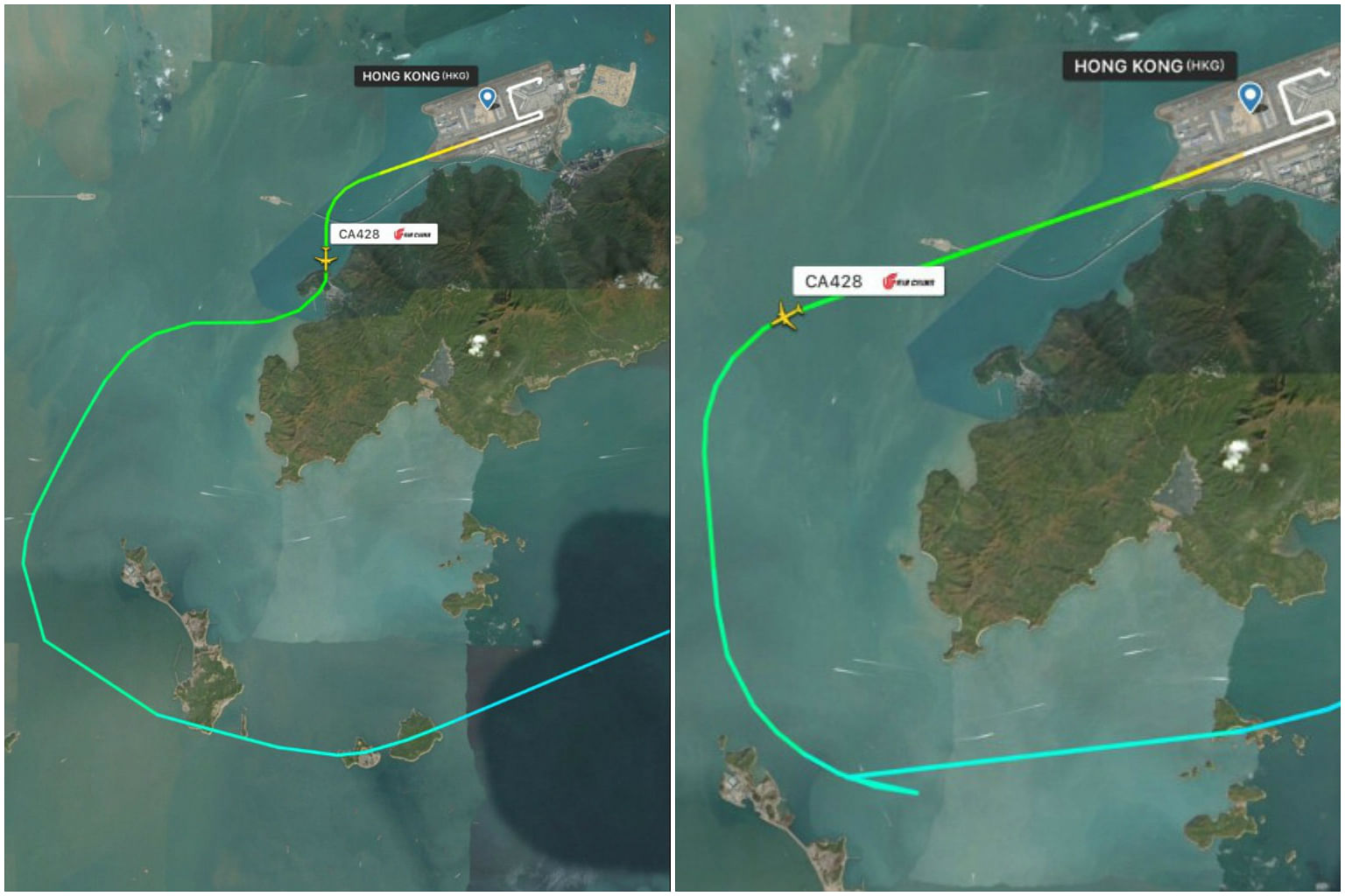 Air China Flight Narrowly Misses Mountain in Hong Kong