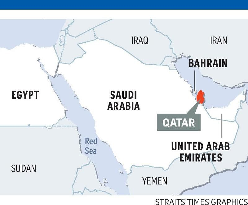 Measures Taken By Gulf States Against Qatar Middle East News - Map of qatar and egypt
