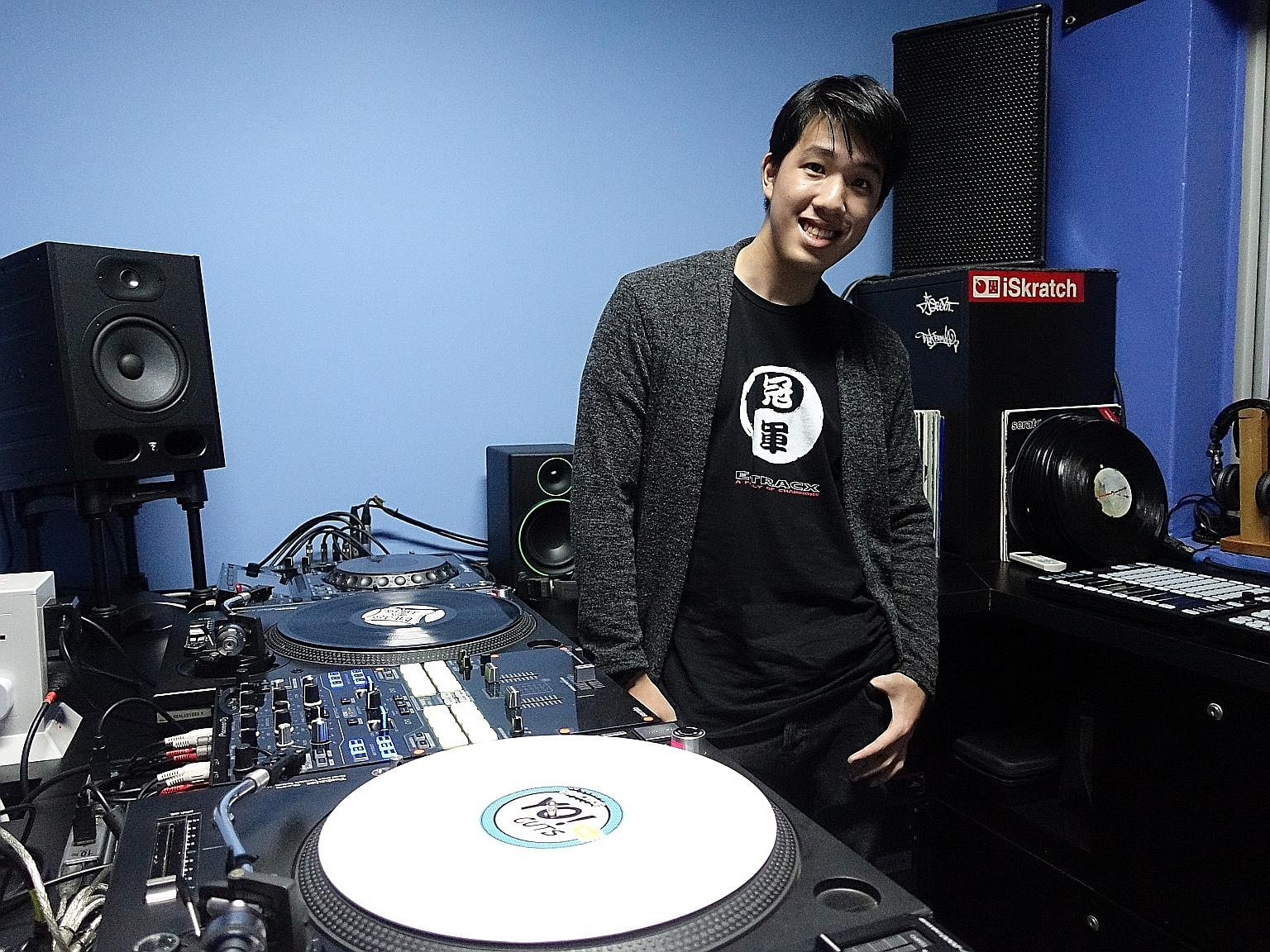 Teenager Anrev Kim (above) won first place in the online international competition, The Beat Junkies Instagram Turntablism Competition, last year.