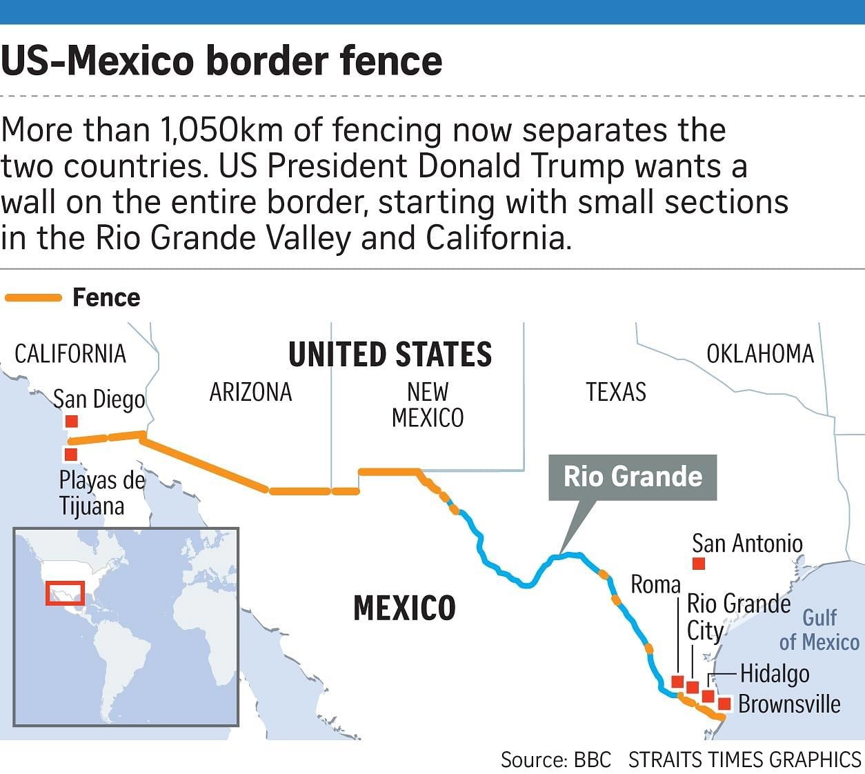 Us Border Wall Map Globalinterco - Us border fence map