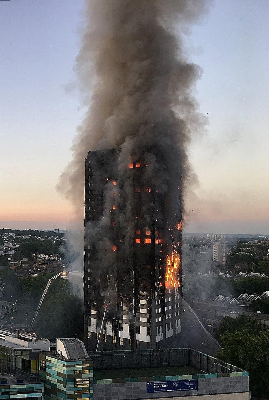 Many residents were trapped in the blaze at the 120-flat Grenfell Tower in west London yesterday.