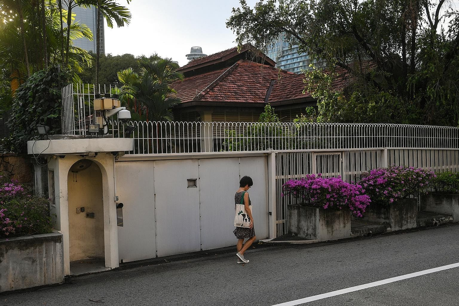 The home of former prime minister Lee Kuan Yew at 38, Oxley Road. Until and unless Dr Lee Wei Ling moves out, there is nothing for the Government to decide, says Ms Indranee Rajah, who added that it is also a principle that the current government wil