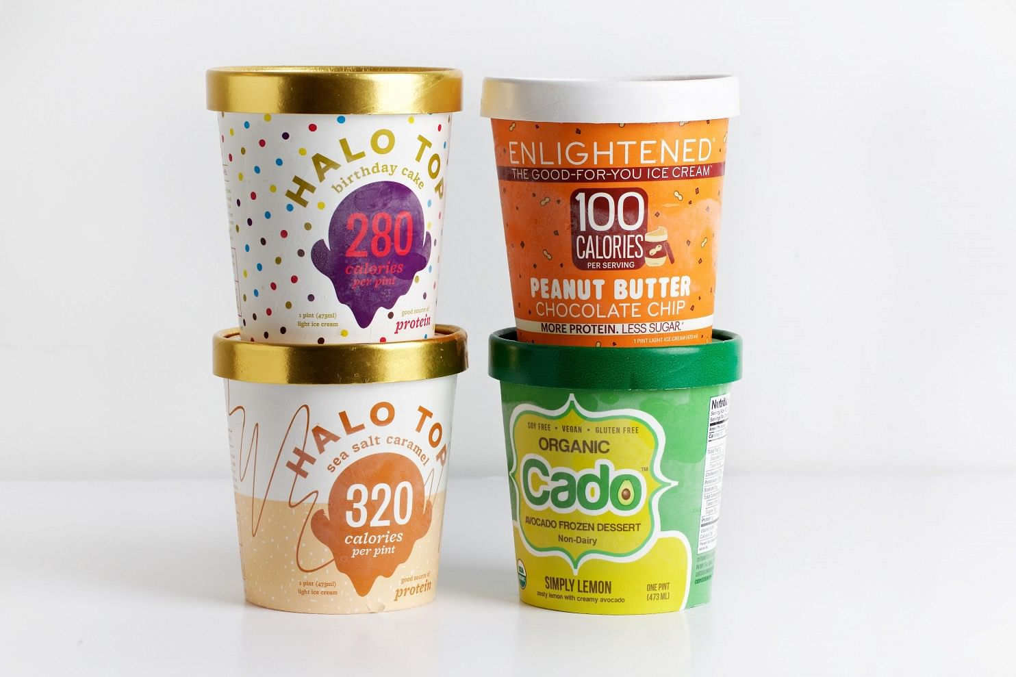 Four Other Offerings Birthday Cake And Sea Salt Caramel From Halo Top Enlighteneds Peanut Butter Chocolate Chip Cados Simply Lemon