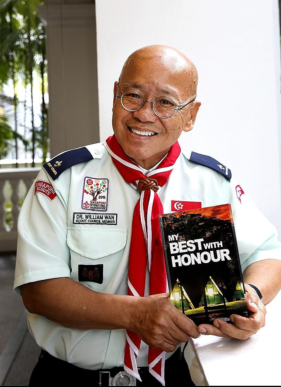 Dr William Wan, who was a scout in primary school, hopes his book will promote scouting values to the public.