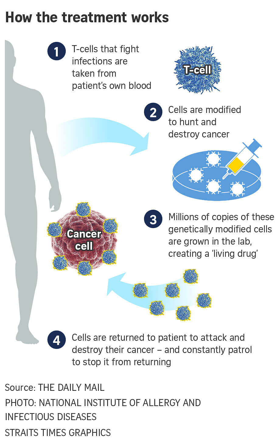 Image result for alters a patient's own cells to fight cancer.