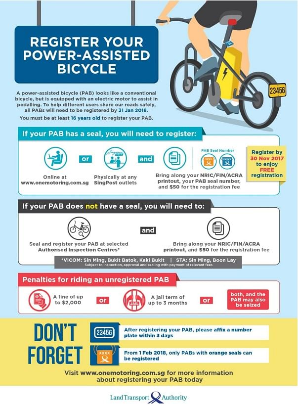 Users of power-assisted bikes must register vehicles from