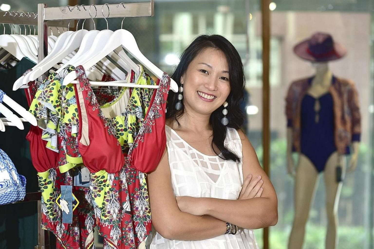 0ec7f198b1 K.Blu founder Lyn Rosmarin works with a team of four from her boutique at  Mandarin Gallery to create designs for the label's offerings, such as  swimwear.