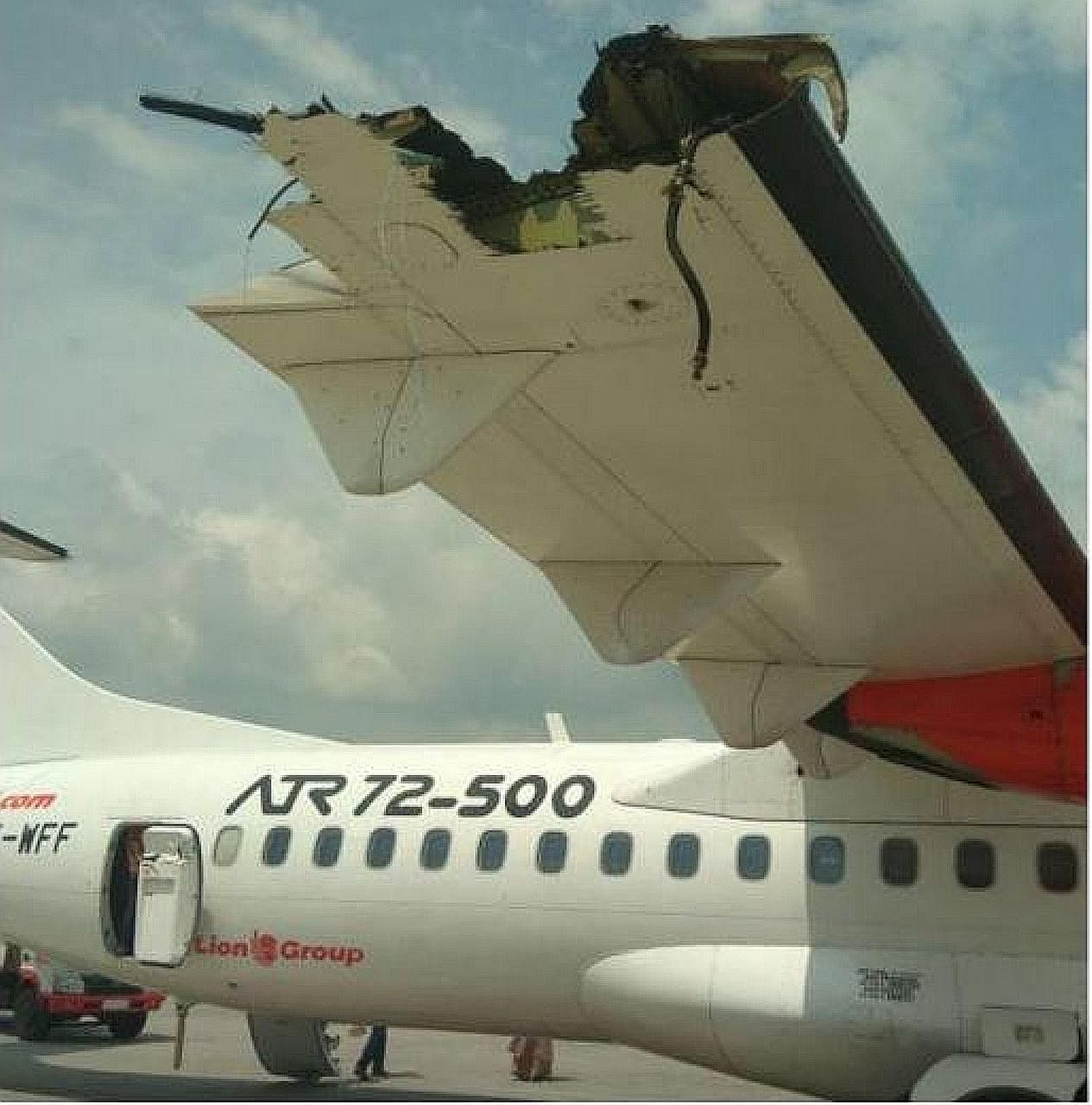 Pictures on social media showed the damaged wings of a Wings Air ATR-72 and a Lion Air plane. The incident took place yesterday at the Kualanamu International Airport in Medan, North Sumatra.