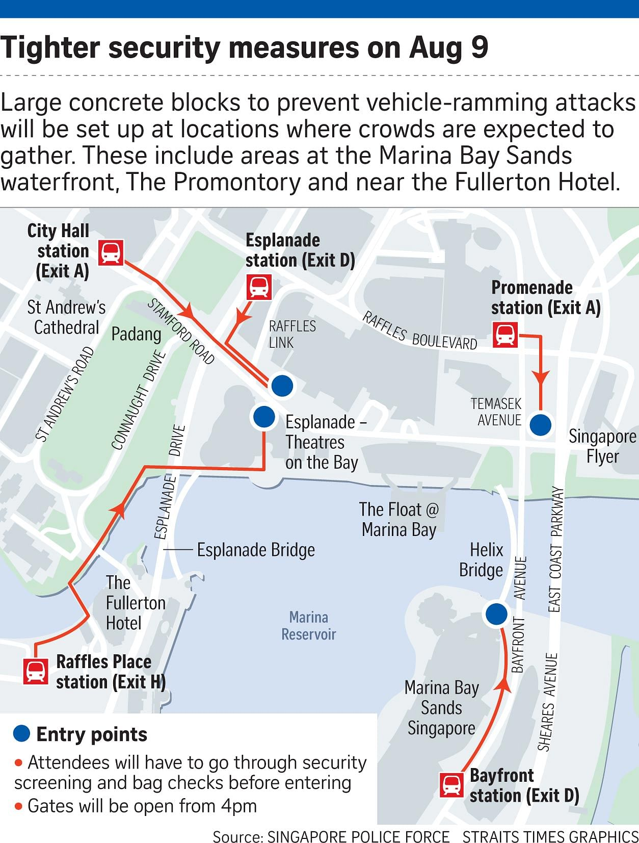 Security measures at NDP on Aug 9