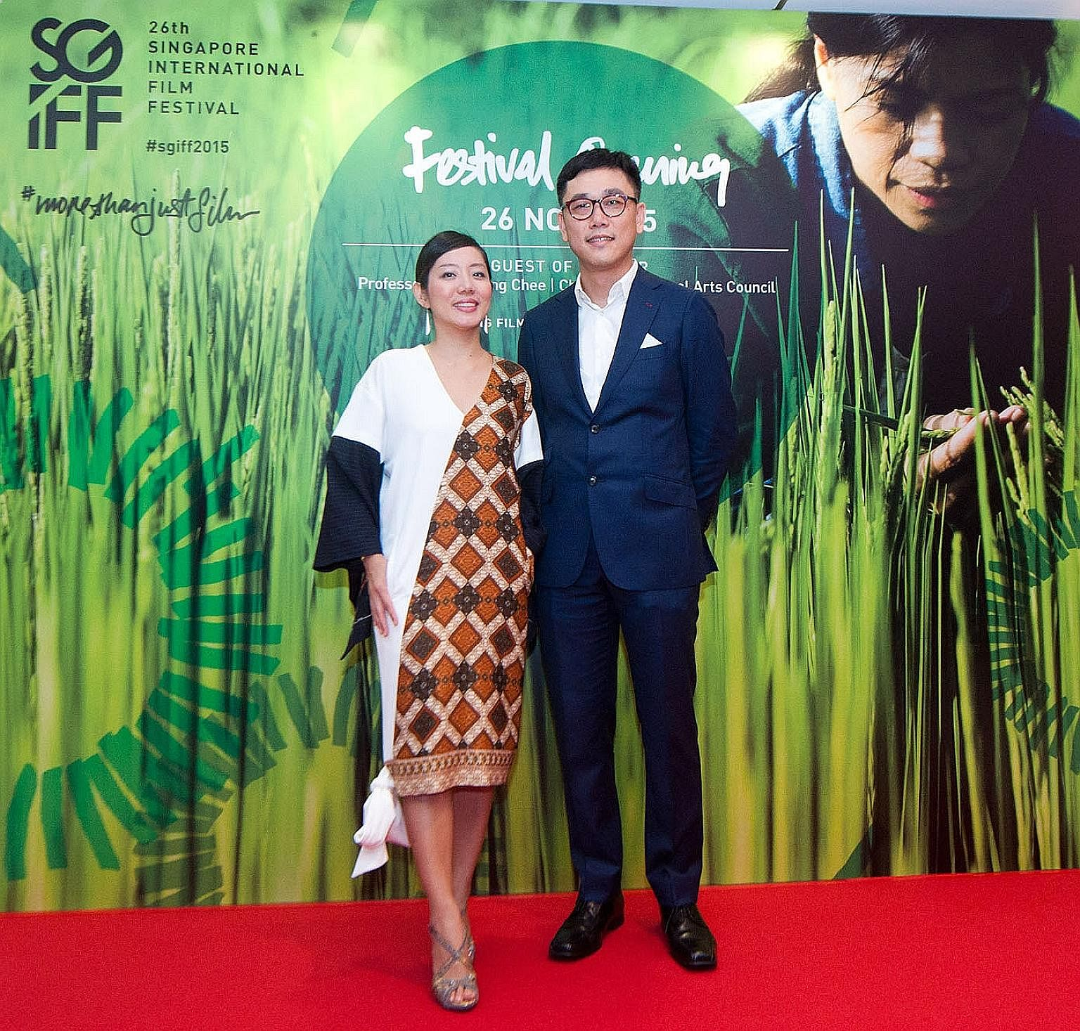 Ms Yuni Hadi, the Singapore International Film Festival's executive director, and Mr Zhang Wenjie, who has quit as its festival director, at its 2015 edition.