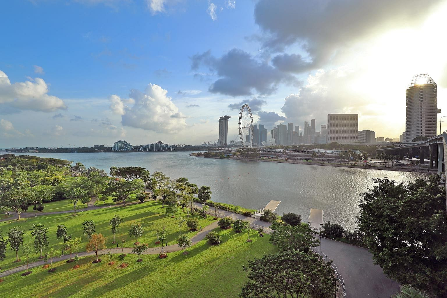 The view of Singapore's city centre as seen from the Bay East Garden. It is a reminder of how the nation's founding leaders looked ahead and built for the next generation, as well as an inspiration for Singaporeans to continue doing that.