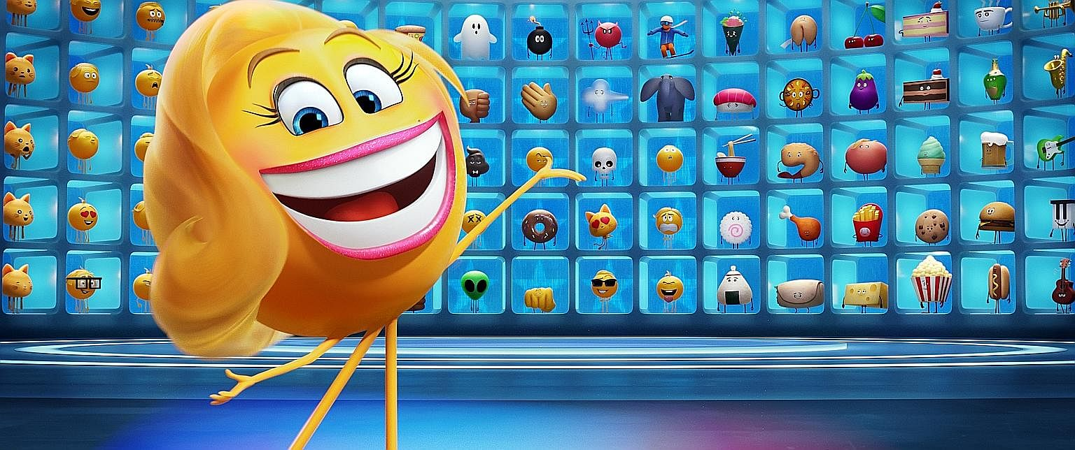 Jessica Williams in The Incredible Jessica James (above); Becoming Warren Buffett (left) looks at the life of the investor and philanthropist; and The Emoji Movie (below).