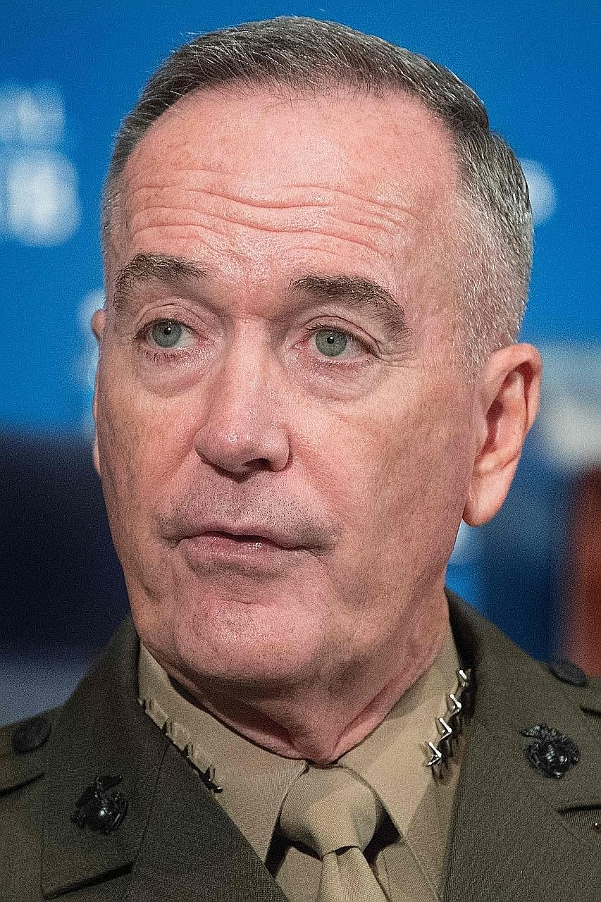 General Joseph Dunford will visit China after meeting South Korea's President and senior military officials.