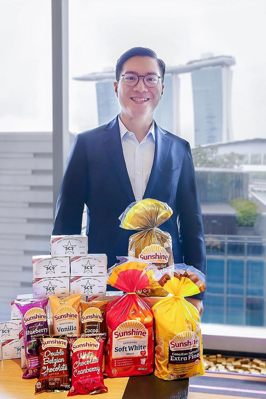 Dr Andy Adhiwana says Auric Pacific hopes to make SCS the go-to butter brand for young adult consumers. It also plans to invest in capabilities and market research to grow the Sunshine bread brand.