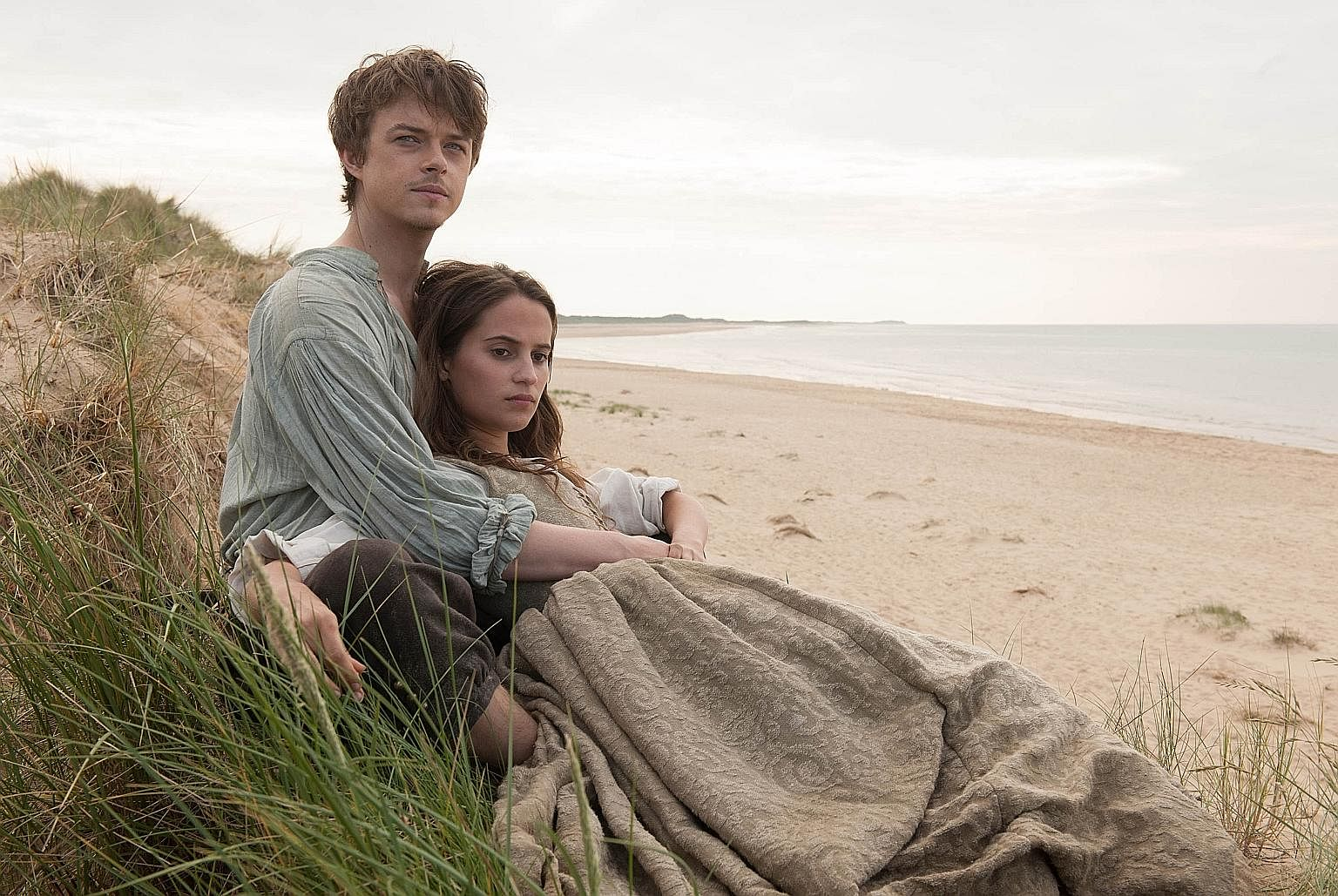 Dane DeHaan and Alicia Vikander (above) start an affair in Tulip Fever.