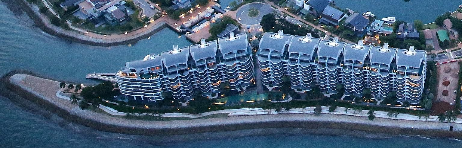 The sale of the Seascape unit at Sentosa Cove, at $2,212 per sq ft, is an improvement from February when a similar unit on a higher floor in the development changed hands at $1,524 psf.