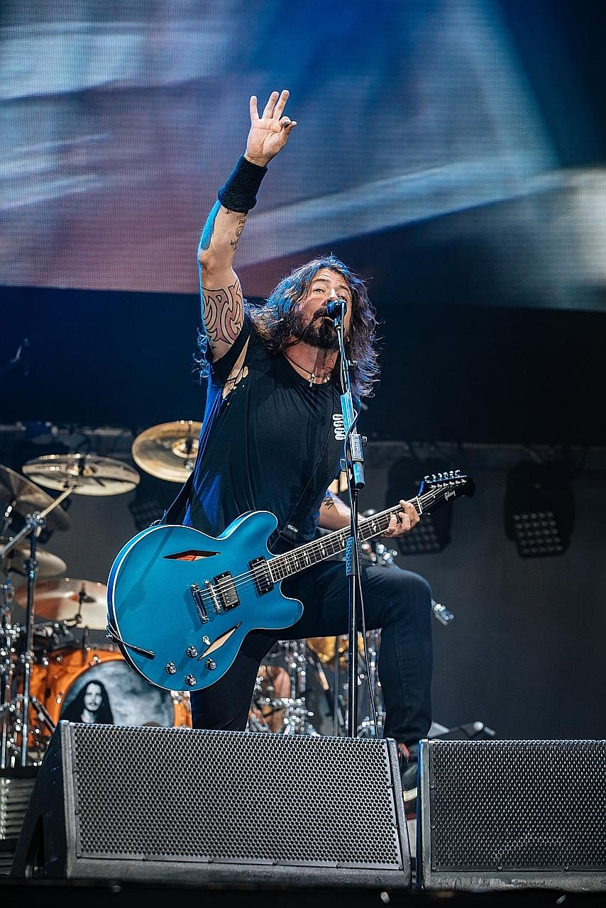 Foo Fighters frontman Dave Grohl remembers their first concert here in 1996, where he almost had to stand in for the drummer as well as sing.