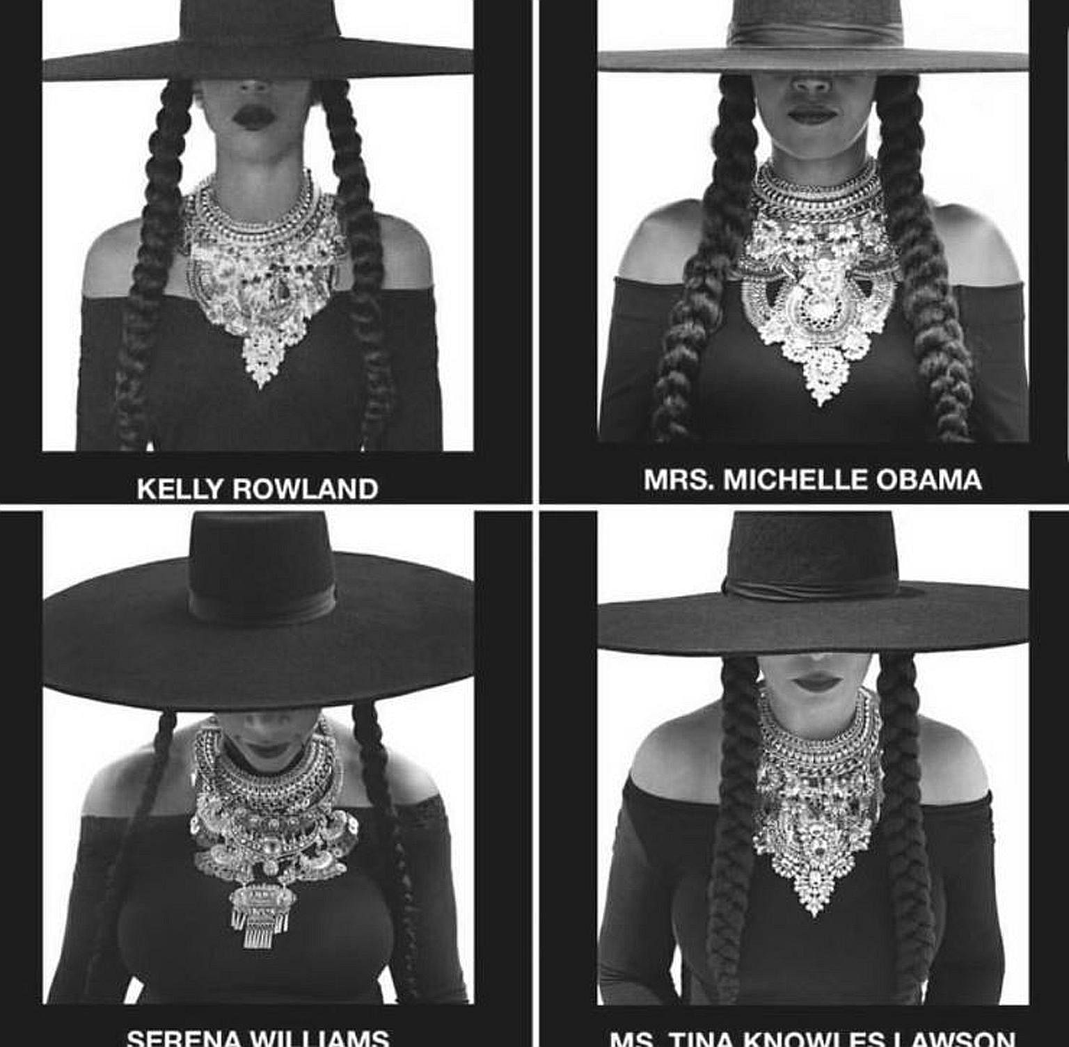 Mrs Michelle Obama was one of several women who dressed up in Beyonce's iconic looks from her Formation video, as a birthday tribute to her.