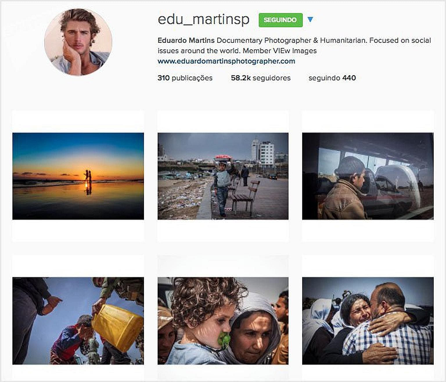 Fictitious Brazilian war photographer Eduardo Martins, who amassed over 120,000 Instagram followers, was created by a scammer who cobbled together the identities of two real people - British surfer Max Hepworth- Povey and US photographer Daniel C. Br