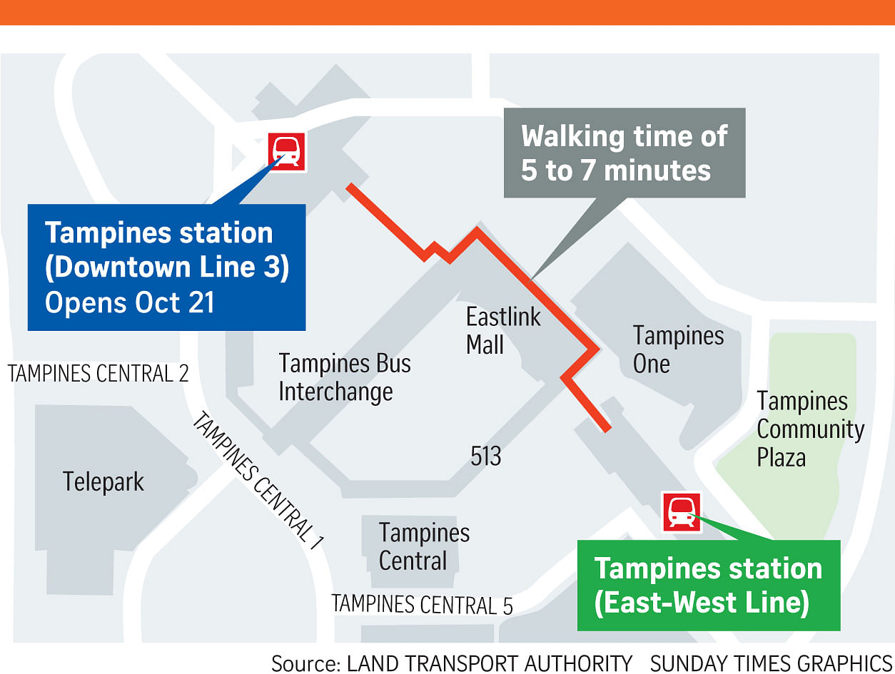 Tampines Station on Downtown Line