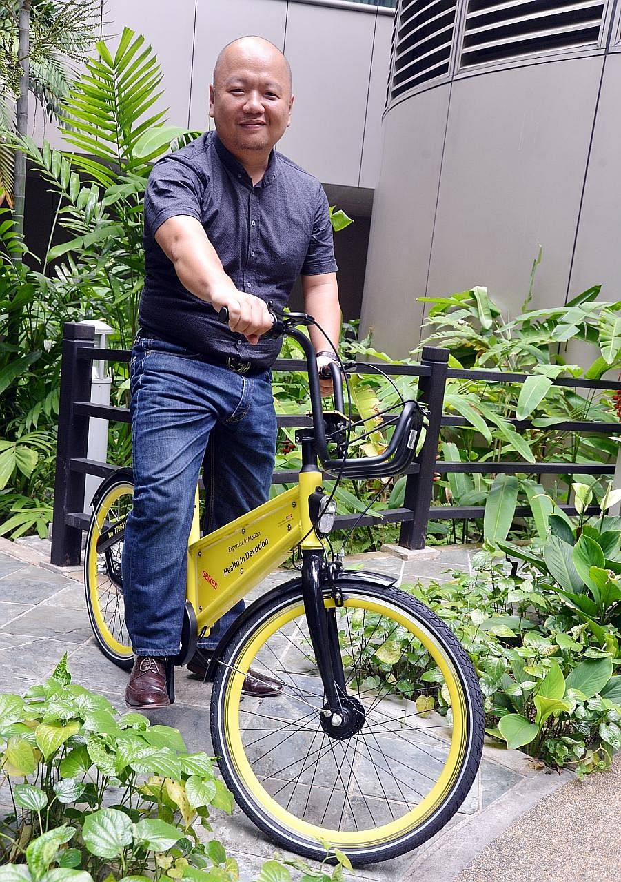 Mr Joe Chia, chief financial officer of bike-sharing firm GBikes, which has been operating in Singapore since May.
