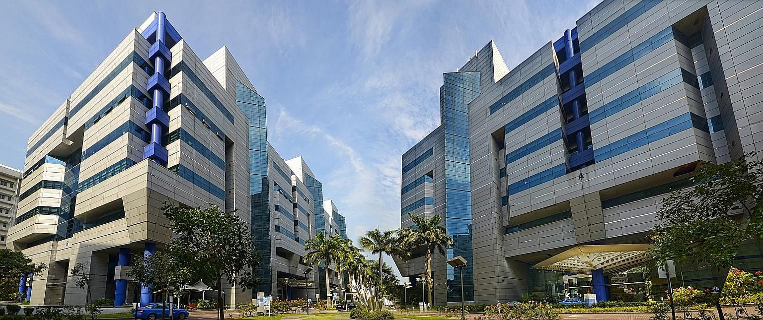 Hewlett-Packard Enterprise Singapore will vacate 178,843 sq ft of the space it rents at Alexandra Technopark (above), which had occupancy of 94.8 per cent at the end of the 2016 financial year.