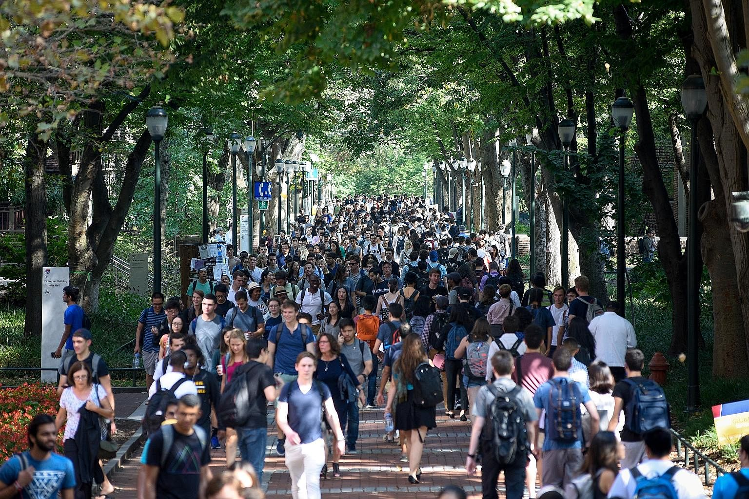 A new survey from the Brookings Institution shows a narrow majority of US students - 51 per cent - think it is
