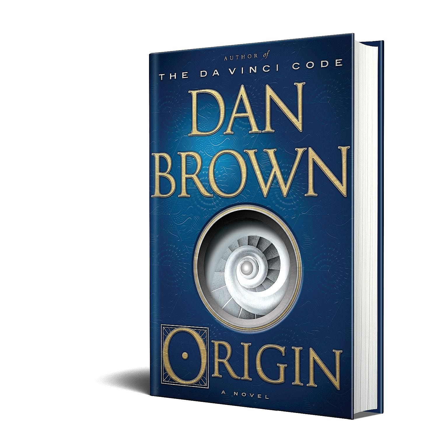 Writer Dan Brown (left), whose eighth novel Origin (above) will be released tomorrow, at his home in Rye Beach, New Hampshire.