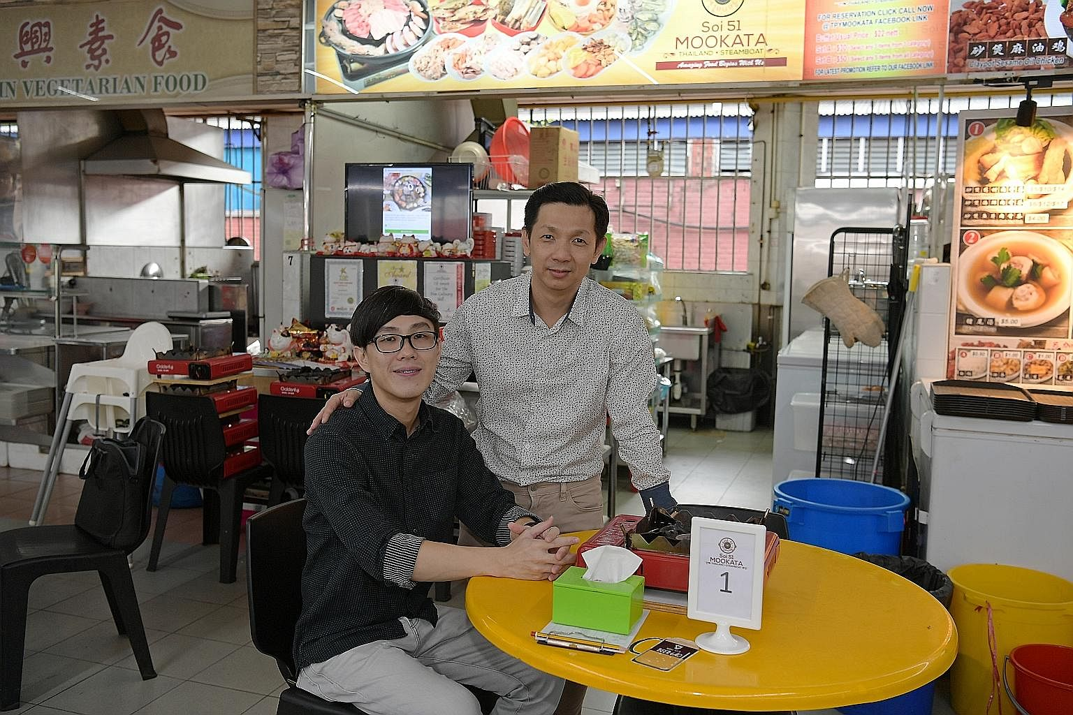 Mr Timothy Cheng (left) says he was blessed to have met Mr Philip Ang, who was a youth worker when he spotted Mr Cheng when he was a boy wandering around aimlessly at a market in Toa Payoh. Mr Cheng's father died when he was just 11, and he had to ca