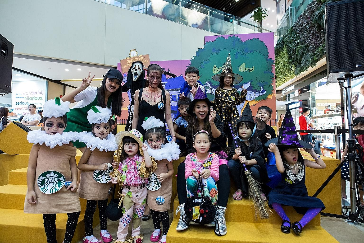 The finalists of last year's Halloween costume event at The Seletar Mall. Participants of last year's Singapore Halloween Festival run.
