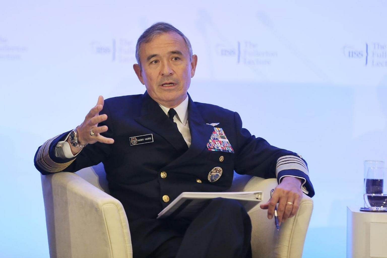 Us Admiral Harry Harris Receives Top Military Award Lauds