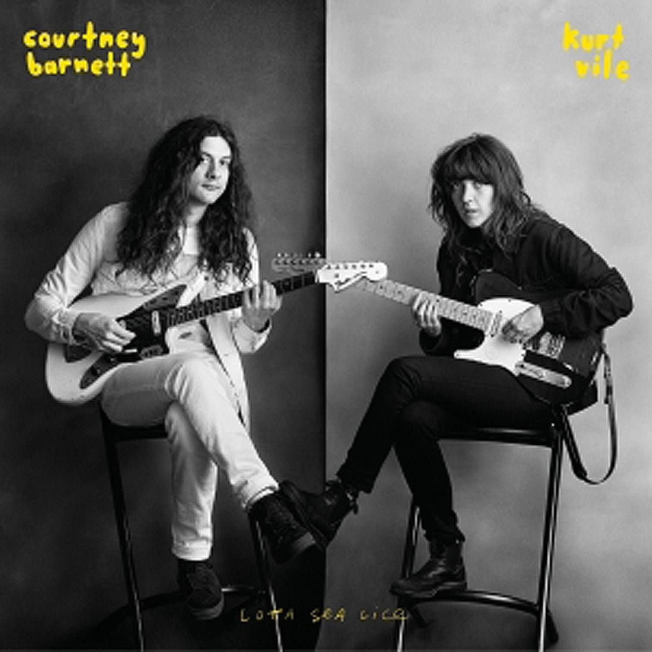 Lotta Sea Lice, a full-length release by Courtney Barnett (above left) and Kurt Vile, perfectly pairs her raspy drawl with his slacker twang.