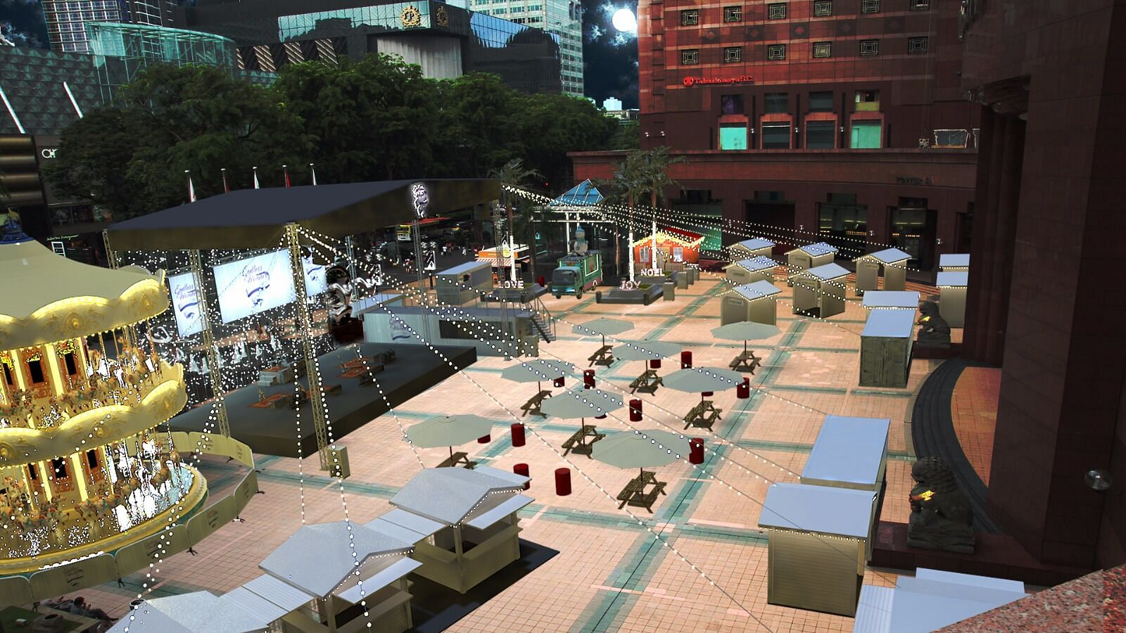 the layout of the christmas village that will be set up outside ngee ann city photo courtesy of orchard road business association