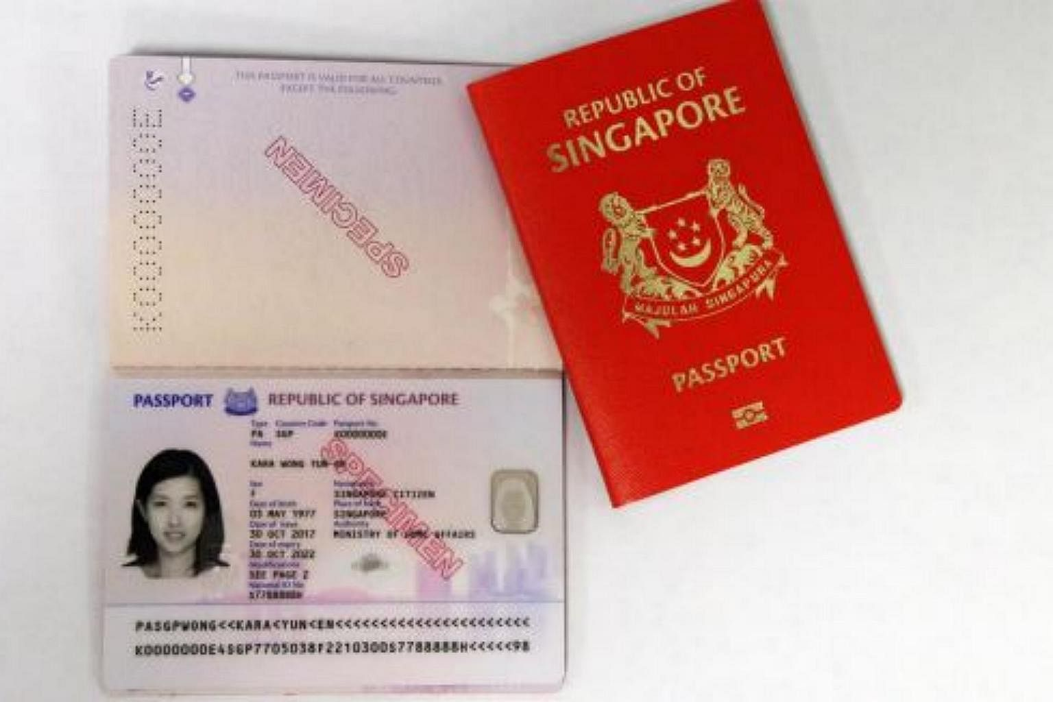 New Design For Singapore Passport With Additional Security Features Ica Singapore News Top Stories The Straits Times