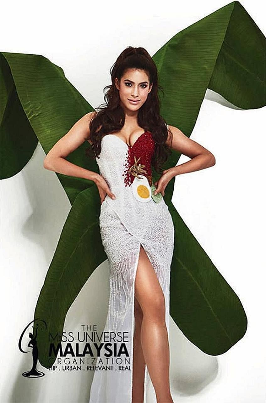 Malaysian beauty queen Samantha Katie James will don the nasi lemak-inspired national costume for the 66th Miss Universe pageant final.