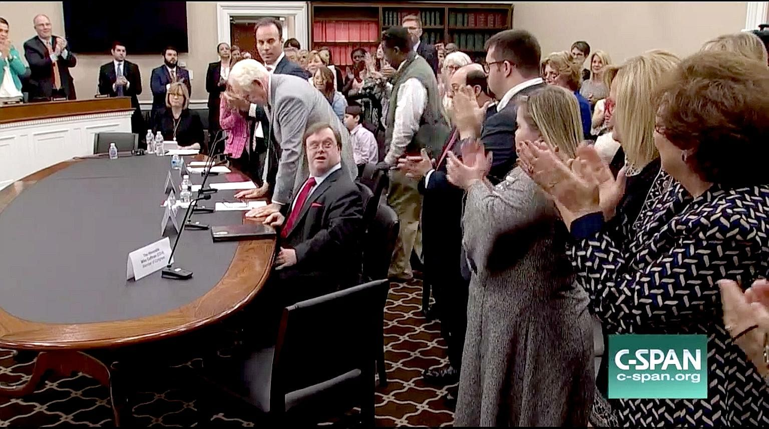 A post put up reportedly on behalf of the Russian government to sway the US presidential elections last year. Mr John Franklin Stephens (seated) at a US congressional hearing last week. He was urging the allocation of federal funds to conduct further