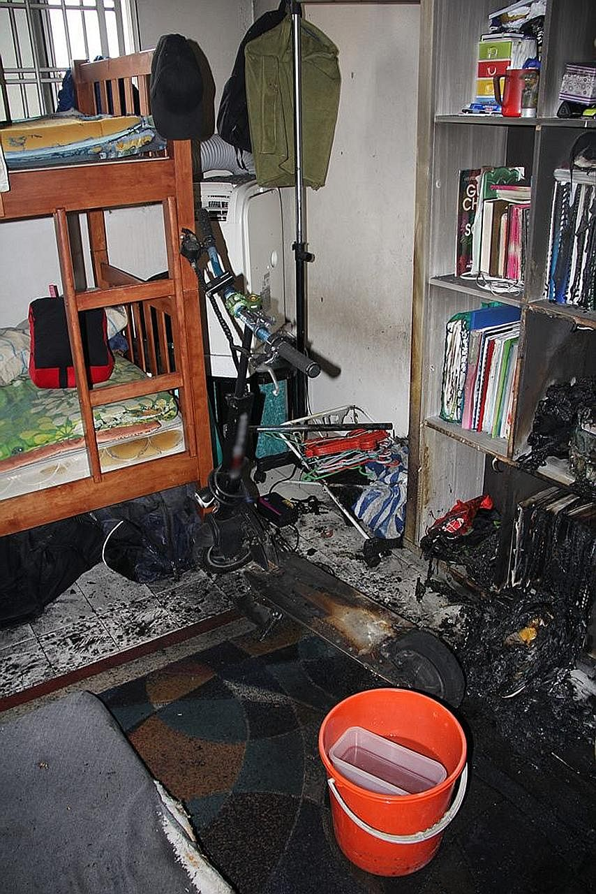 Last month, a family escaped through their bedroom window after an e-bike charging in the corridor of a Bukit Bato