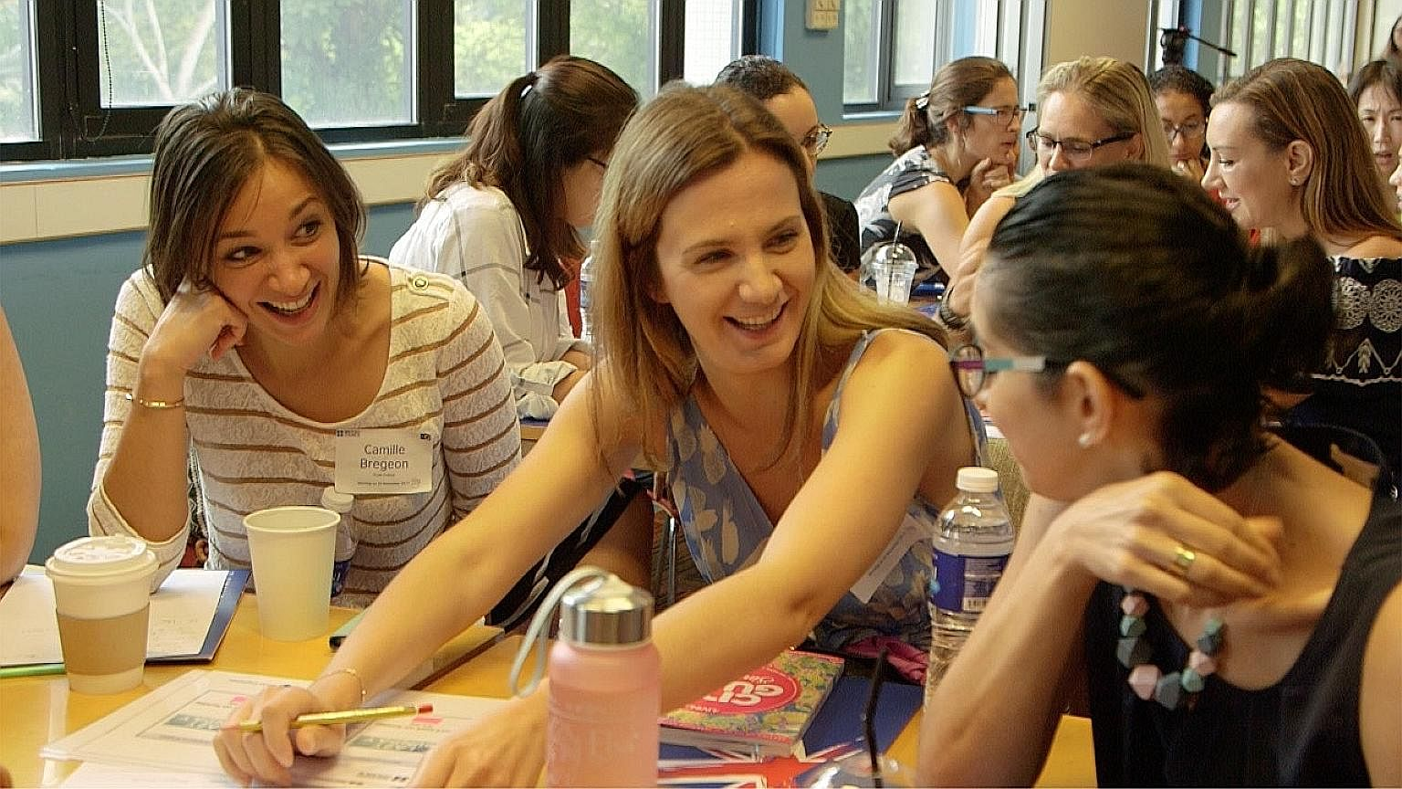 About 60 people of more than 24 nationalities turned up for the sixth edition of the British Council's Coffee Morning sessions, held at its Napier Road premises, last Monday. Ms Eleni Sardi (at centre), a Greek expatriate who works in the communicati