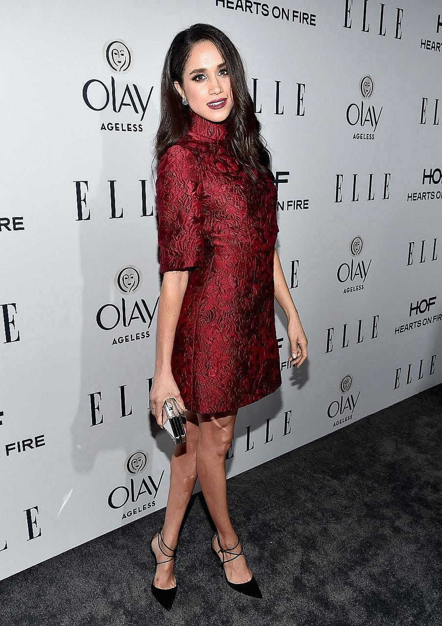 Markle's footwear choices are under scrutiny too. Here, she is at Elle's 6th Annual Women In Television Dinner in West Hollywood, Califor