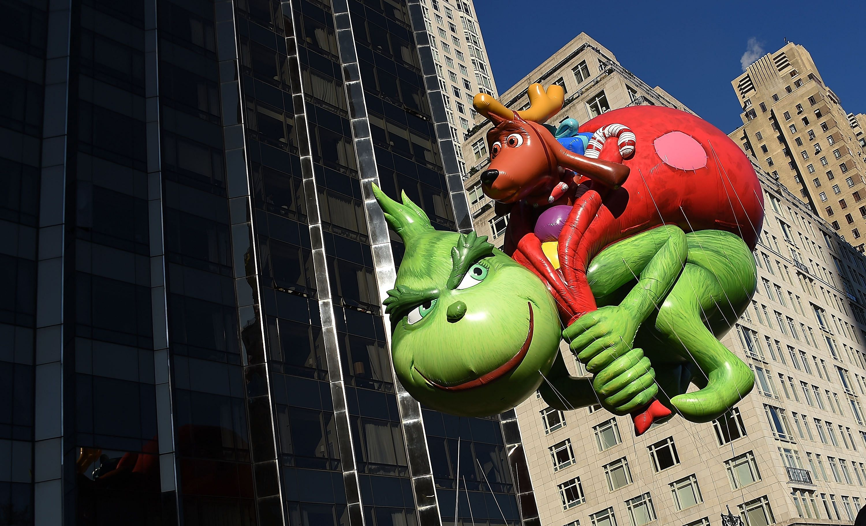 Steer clear of the Grinch. This green children's story character was created by Dr Seuss for his book, How The Grinch Stole Christmas. The balloon in his likeness is seen here during the 91st Annual Macy's Thanksgiving Day Parade in New York City. PHOTO