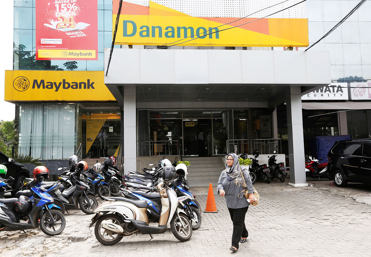 A Bank Danamon branch in Jakarta, Indonesia. Temasek Holdings plans to sell its 73.8 per cent stake in Bank Danamon to Japan's MUFG.