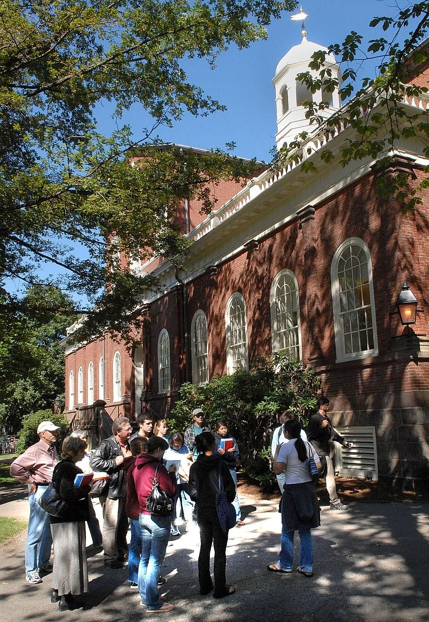 Prospective university students, like this group at Harvard, must understand that the admissions process is arbitrary in nature, says the writer.