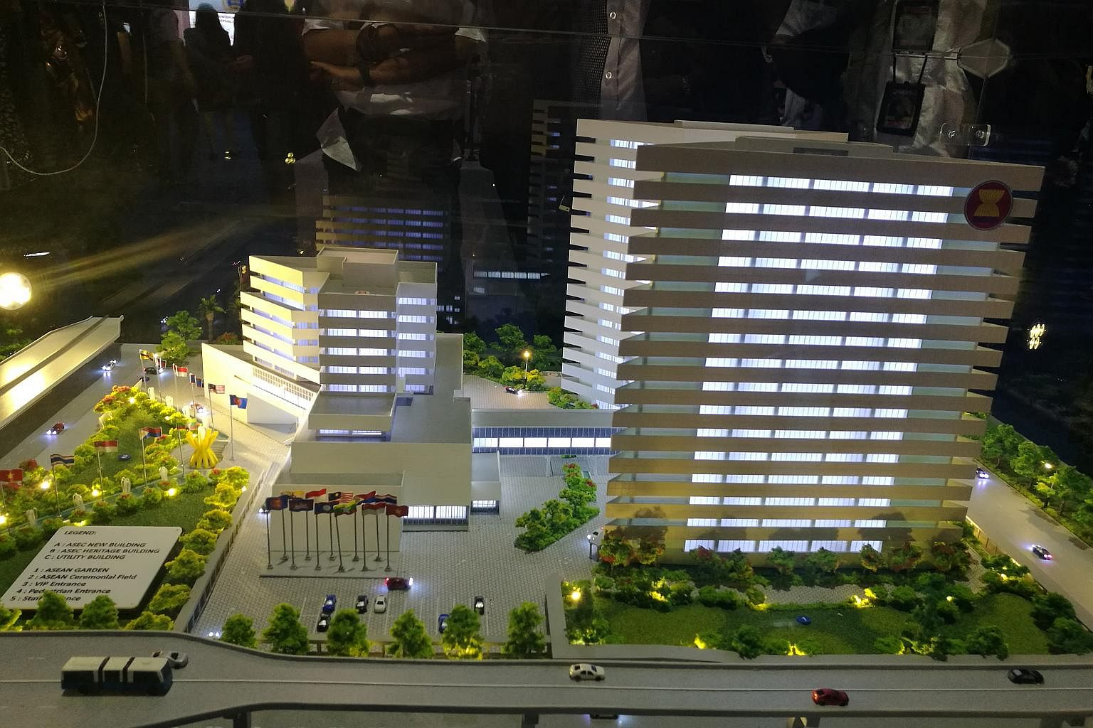A three-dimensional model of the would-be Asean's expanded building in Jakarta. Image: ST/Wahyudi Soeriaatmadja